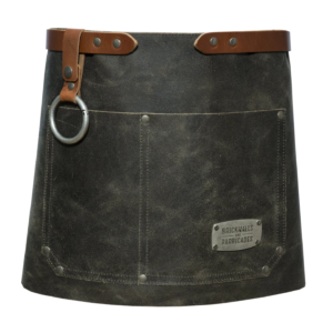 """""""The Bistro"""" Leather Waist Apron - Vintage Bright and Shine Stoves"""